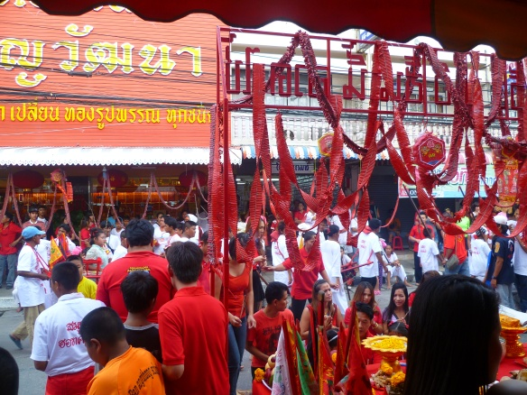Chinese celebrations - we stumbled upon these just walking through the centre on Na Thon around Chinese New Year