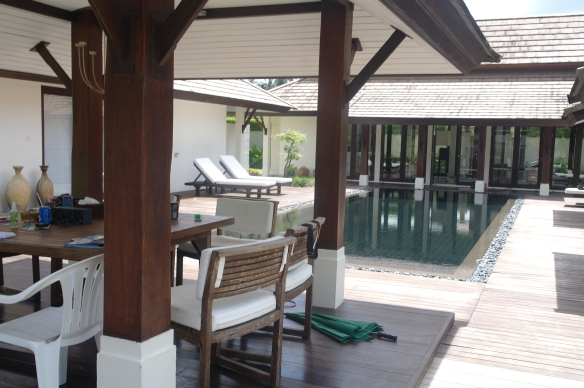 The private pool...